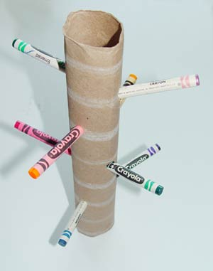 crayon tree craft