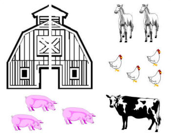 Create A Farm Animal Collage With Foam Stickers Farm Animal Crafts