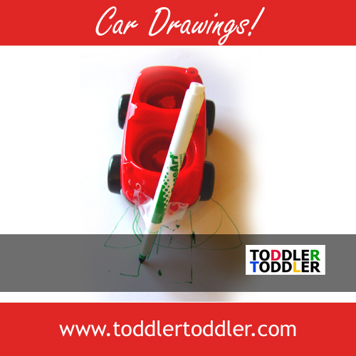 Toddler Activities, Crafts, Games (www.toddlertoddler.com) : Car Drawings! So fun and easy!