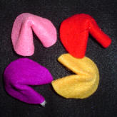 Toddler Craft: Make some Felt fortune Cookies
