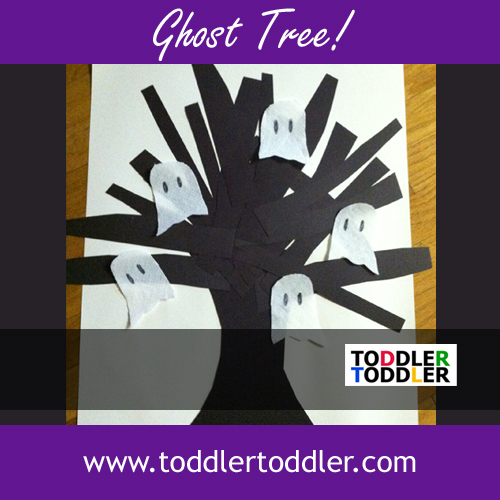 Halloween Craft for kids: Make a Ghost Tree! www.toddlertoddler.com