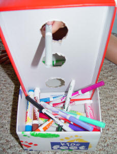 Toddler Games & Activities at www.toddlertoddler.com : Marker Box Game