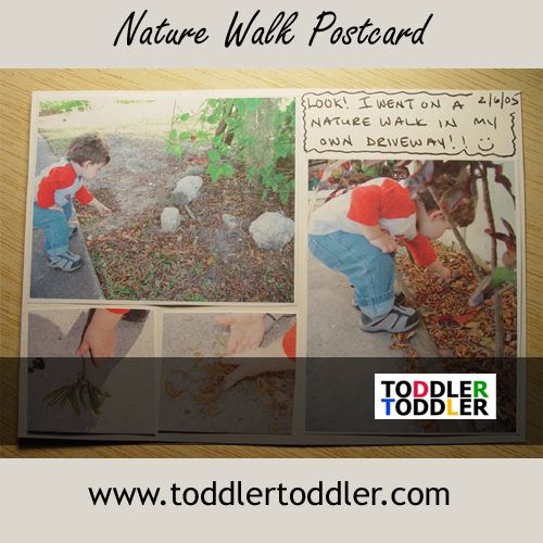 Toddlers Activities Games Crafts (www.toddlertoddler.com) : Nature Walk Postcard