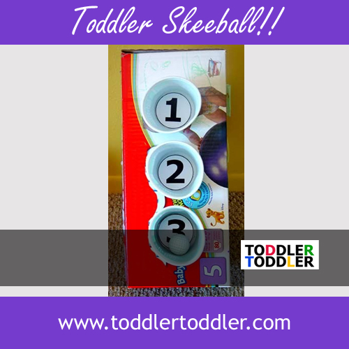 Toddler Activities, Games, Crafts (www.toddlertoddler.com) : Toddler Skeeball!