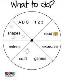 toddler activities wheel