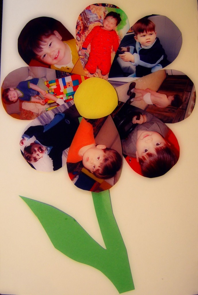Toddler activities art and craft to make a photo flower for Art and craft flowers