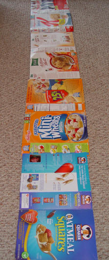 Toddlers, Activities, Games: Cereal Box Sidewalk