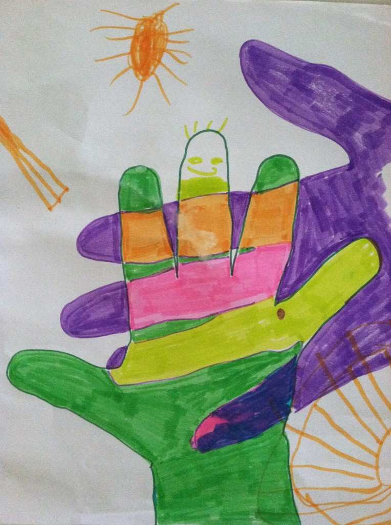 Color your handprints