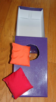 Toddlers Activites & Games: Bean Bag Toss slide