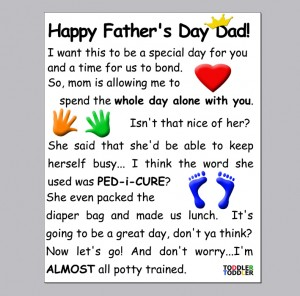 Father's Day Crafts Funny Card from Toddler (www.toddlertoddler.com)