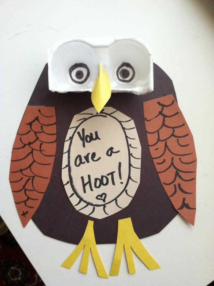 Toddler Craft: You are a Hoot Owl