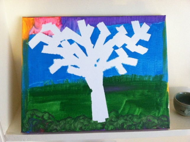 Toddlers, Preschoolers, Activities, Games (www.toddlertoddler.com): Easy Tree Painting