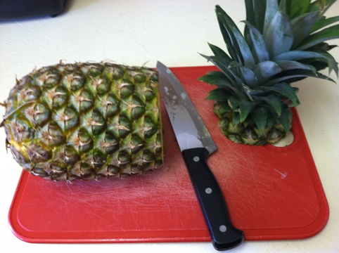 Awesome Kitchen Gadget : Pineapple Slicer and Party Time! Step 1