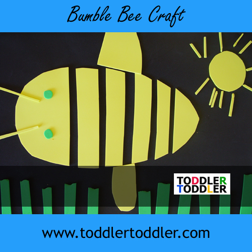 Toddlers activities crafts (www.toddlertoddler.com): Bumble Bee