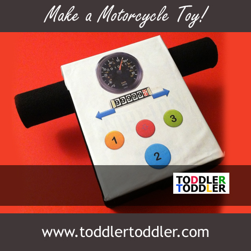Toddler Activities, Games ( www.toddlertoddler.com): Make a Motorcycle Toy