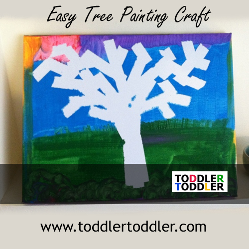 Toddlers, Preschoolers, Activities (www.toddlertoddler.com): Easy Tree Painting