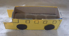 Toddler Activites, Crafts, Games www.toddlertoddler.com : Easy Crafty Boxy School Bus Step2