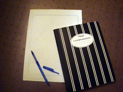 Toddler activities, crafts: Back to School - create a custom journal cover Step 1