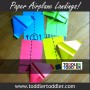 Toddler Activities, Crafts, Games: Paper Airplane Landings www.toddlertoddler.com