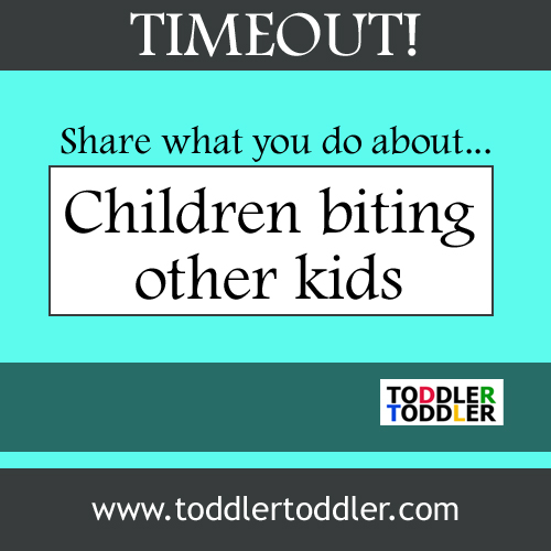Toddler Toddler: Timeout- share what you do about children biting other kids.