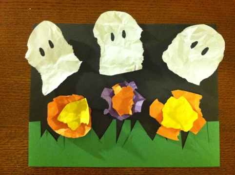 Toddler Activites and Crafts: Halloween Bootiful Garden Craft