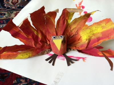Thanksgiving Craft - Toddler Turkey 1