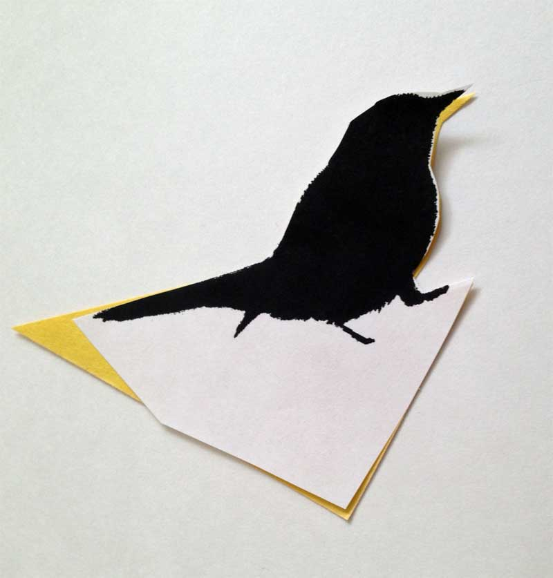 Toddler bird art cutout
