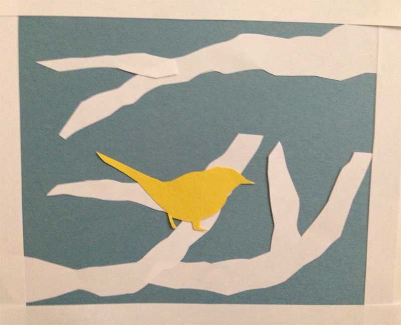 toddler yellow bird art